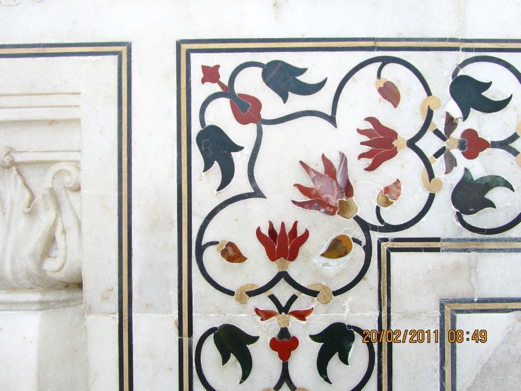 Sculpture Inside The Taj Mahal